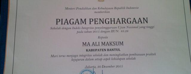 MA Ali Maksum kembali torehkan prestasi berupa penghargaan sebagai madrasah […]