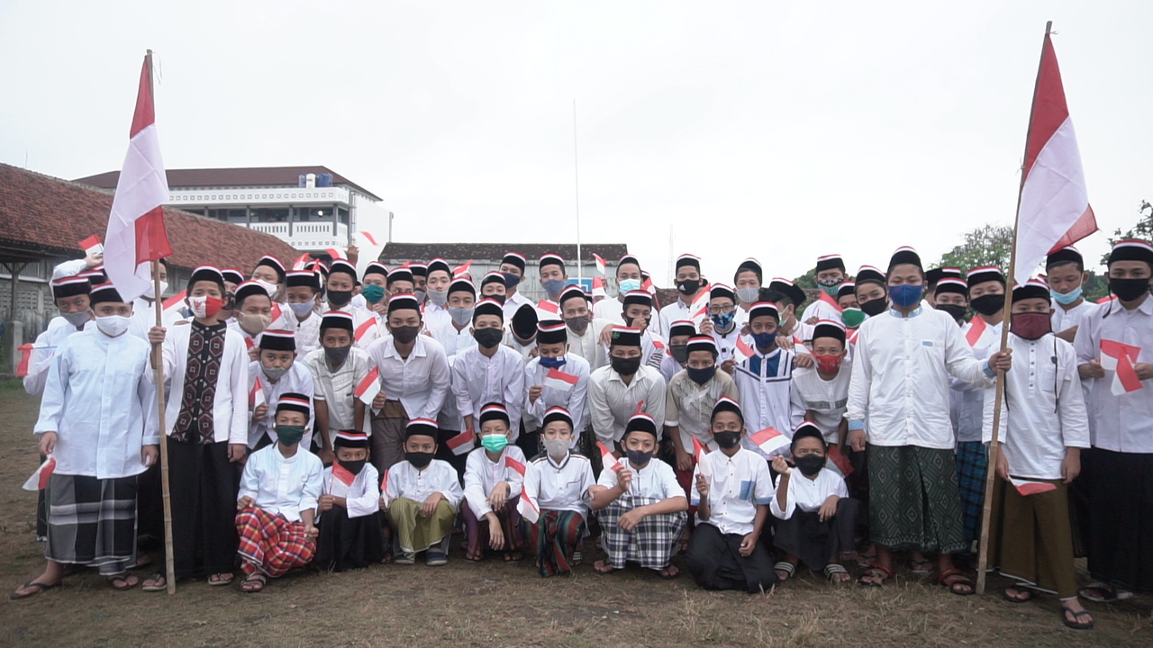 Santri Asrama Putra, Semarakkan Hari Santri Nasional 2020 dengan Suka Cita